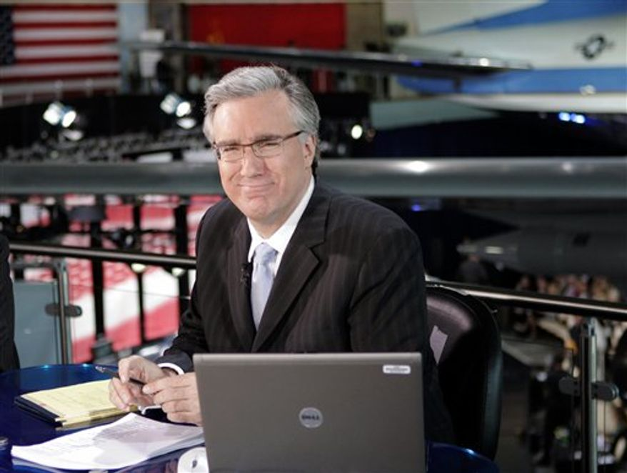 """FILE - In this Feb. 23, 2009 file photo, Keith Olbermann attends the """"Defying Inequality"""" Broadway concert, a celebrity benefit for equal rights, in New York. MSNBC says Olbermann will be back on the air Tuesday, Nov. 9, 2010, ending his suspension for violating NBC's rules against making political donations.  (AP Photo/Peter Kramer, file)"""