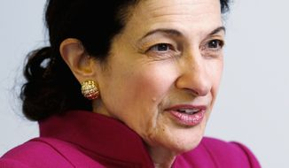 "Sen. Olympia J. Snowe, Maine Republican, could face a ""tea party"" primary challenger from the right in 2012. (Associated Press)"