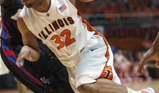 FILE - This Oct. 12, 2010 file photo shows Illinois freshman forward Jereme Richmond talking with reporters at Illini college basketball media day in Champaign, Ill.Richmond is one of a group of talented freshman joining five returning starters for Illinois. The Illini host UC-Irvine Monday, Nov. 8, 2010 in their season opener. (AP Photo/David Mercer, File).