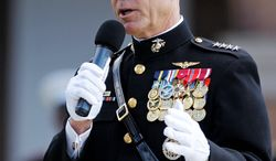 """Gen. James F. Amos, the new commandant of the Marine Corps, fears the impact on unit cohesion and combat effectiveness of repealing """"don't ask, don't tell."""" (Associated Press)"""
