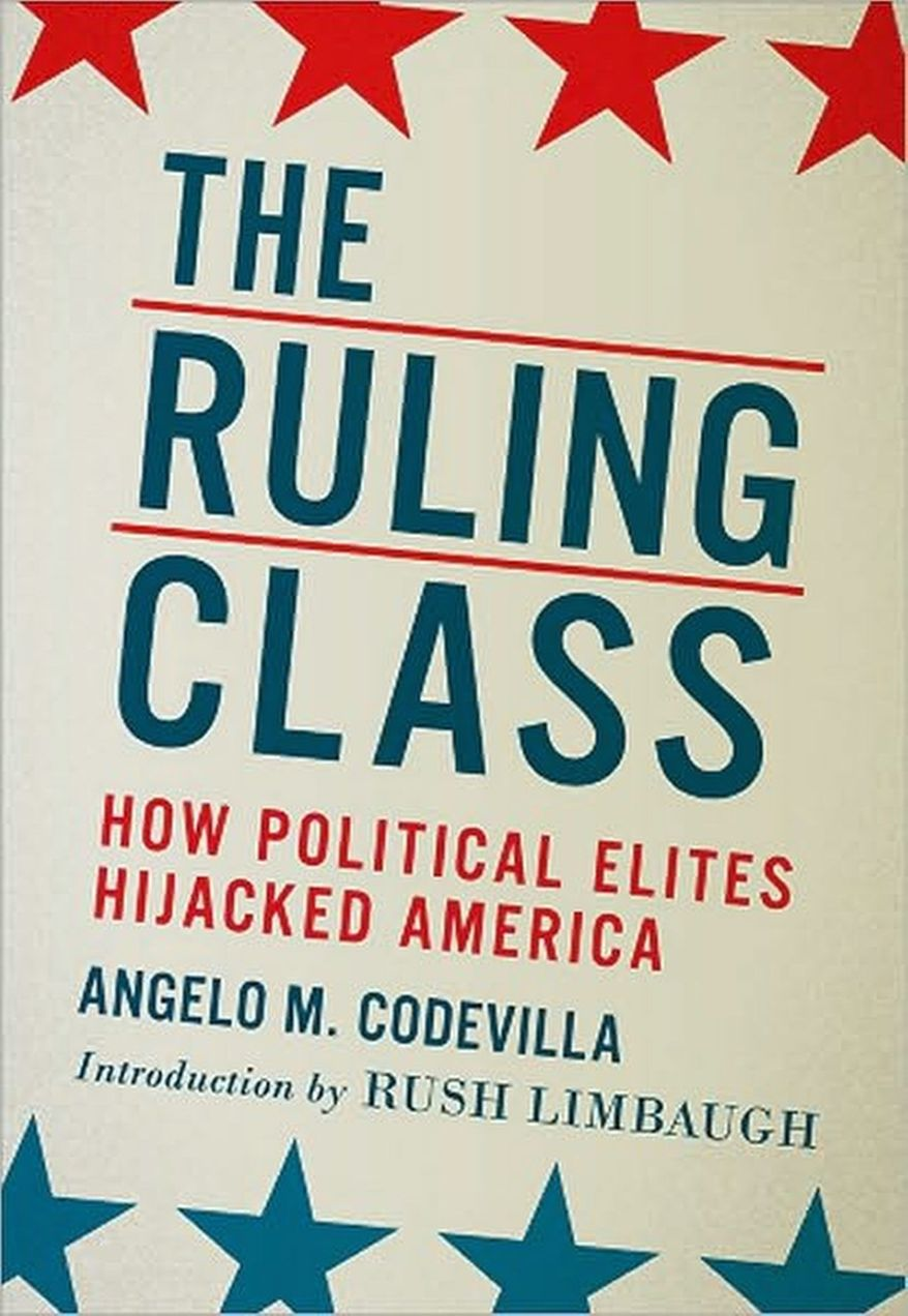 """Angelo M. Codevilla's book describes a majority """"Country Party"""" of voters who """"want the Ruling Class off America's back."""""""