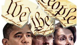Illustration: We the people by Alexander Hunter for The Washington Times
