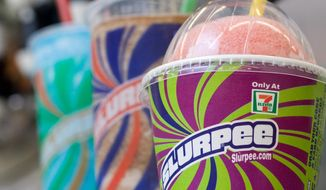 "Slurpees are good to go at a 7-Eleven store in Concord, N.H. But there is no word yet on whether elected officials will be sipping the sweet slushy drink Thursday while discussing tax cuts in the White House at a gathering jokingly dubbed the ""Slurpee Summit."" (Associated Press)"