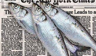 Illustration: NYT Fish by Greg Groesch for The Washington Times