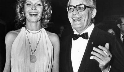 """FILE - This May 21, 1984 file photo shows producer Dino de Laurentiis at the Cannes Film Festival in France.  De Laurentiis, a film impresario and producer of """"Serpico,"""" """"Barbarella"""" and """"Death Wish,"""" died  Wednesday, Nov. 10, 2010 at his home in Beverly Hills, Calif. He was 91. (AP Photo/Michel Lipchitz, File)"""