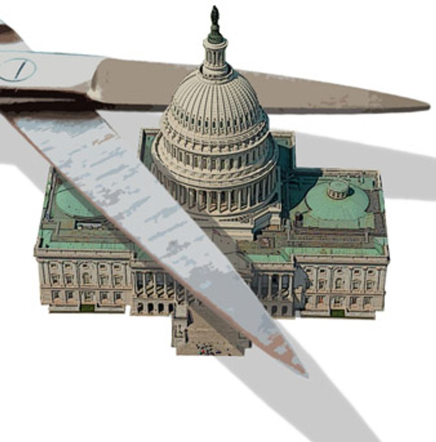 Illustration: Capitol cuts by Greg Groesch for The Washington Times
