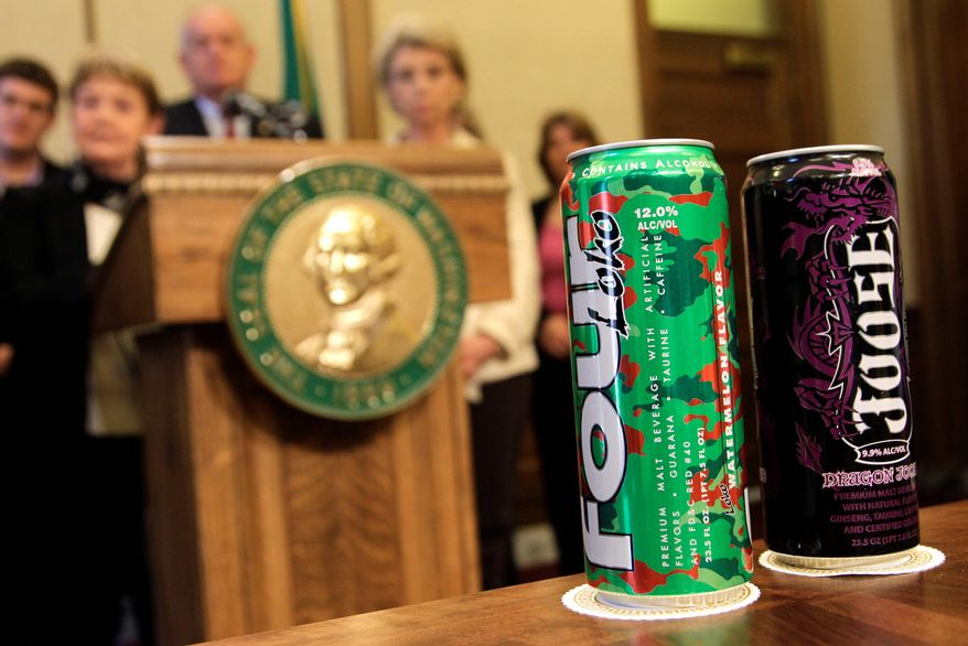 "ASSOCIATED PRESS Four Loko is among the caffeinated alcoholic beverages that federal authorities say have created a ""very important public health issue."""