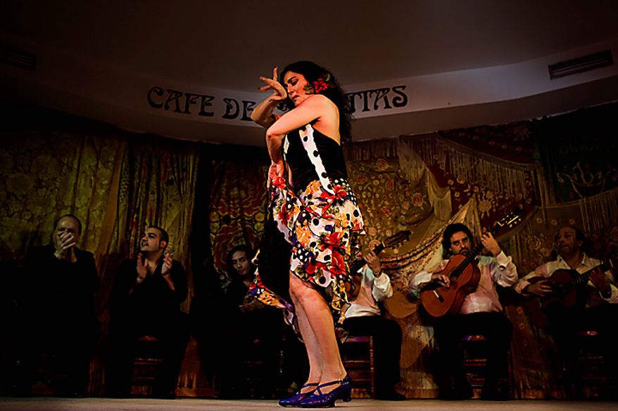 In this photo taken on Saturday, Nov. 13, 2010, flamenco dancer Victoria Duende performs in the renowned Cafe de Chinitas Tablao Restaurant in Madrid. Spain's flamenco dance is among 51 proposals to be considered for inclusion on two UNESCO intangible cultural heritage lists. The Paris-based U.N. organization said that Tuesday Nov. 16 meeting in Nairobi, Kenya, will determine which of the proposals make the final cut. Thirty-one countries on four continents fielded proposals.  (AP Photo/Victor R. Caivano)