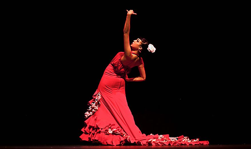 In this photo taken on Friday, Nov. 12, 2010, flamenco dancer Andrea Fernandez performs at Palacio del Flamenco in Seville, Spain. Spain's flamenco dance is among 51 proposals to be considered for inclusion on two UNESCO intangible cultural heritage lists. The Paris-based U.N. organization said that Tuesday Nov. 16 meeting in Nairobi, Kenya, will determine which of the proposals make the final cut. Thirty-one countries on four continents fielded proposals.  (AP Photo/Miguel Angel Morenatti)