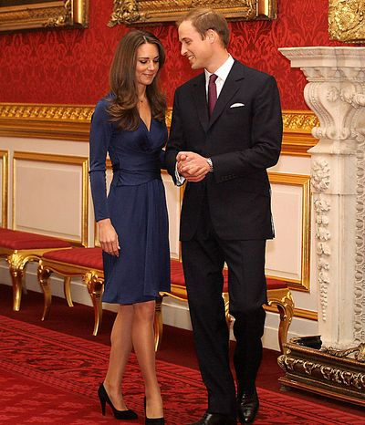 Britain's Prince William and his fiancee Kate Middleton arrive for a media photocall, media at St. James's Palace in London, Tuesday Nov. 16, 2010, after they announced their engage