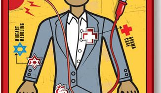 Illustration: Operation Obama by Linas Garsys for The Washington Times