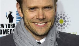 FILE - In this Nov. 3, 2010 file photo, Joel McHale attends the New York Comedy Festival's Stand Up For Heroes concert in New York. (AP Photo/Charles Sykes, file)