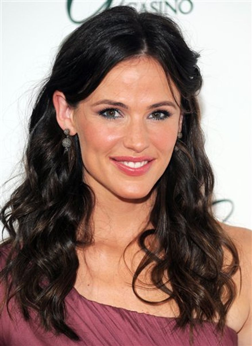 FILE - In this July 2, 2010 file photo originally released by The Greenbrier Resort, actress Jennifer Garner attends the gala opening of The Greenbrier Casino Club in White Sulphur Springs, W.Va. (AP Photo/The Greenbrier Resort, Evan Agostini)
