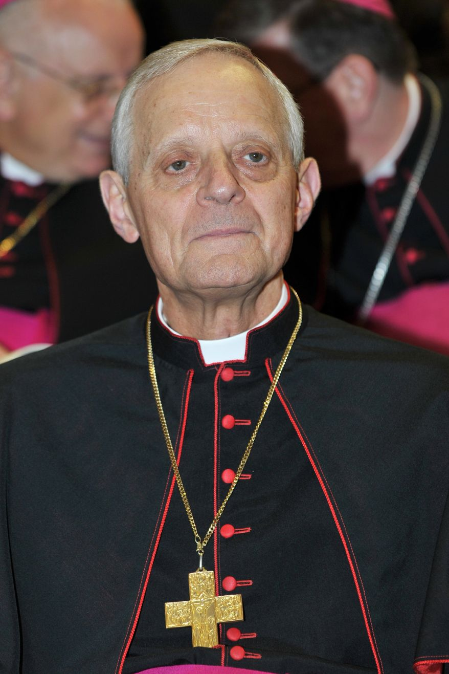 This photo provided by the Vatican newspaper L'Osservatore Romano shows cardinal-designate Donald W. Wuerl, archbishop of Washington, D.C., at the Vatican on Friday, Nov. 19, 2010. Wuerl is one of the 24 to be elevated to Cardinal by Pope Benedict XVI on Saturday. (AP Photo/L'Osservatore Romano, ho)