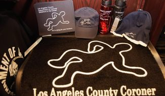 Merchandise inside the Los Angeles County coroner's gift shop has not been popular enough to be profitable, but county auditors think Skeletons in a Closet could be a moneymaker if the department ramps up marketing. (Associated Press)