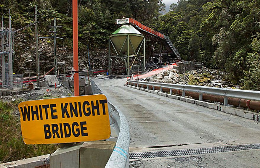 The entrance to the Pike River coal mine is cordoned off in Greymouth, New Zealand, Sunday, Nov. 21, 2010. Anguished relatives of 29 workers missing after an explosion at the coal mine grew frustrated over delays in the rescue operation Sunday, as officials prepared to drill a small hole through hundreds of feet (meters) of rock to test for levels of deadly gasses. (AP Photo/Pool)