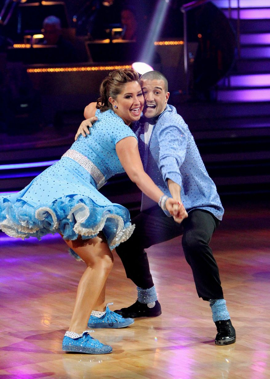 "PALIN POWER: Bristol Palin and partner Mark Ballas have won enough viewer votes to remain in contention to win ""Dancing With the Stars,"" despite low marks from the judges. Rumor is that voting is being padded by Sarah Palin supporters, but her daughter says she deserves to win because ""we've been working our butts off."" (Associated Press)"