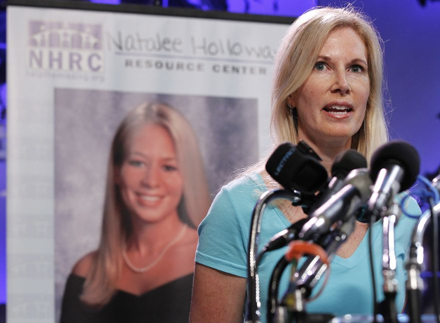 Beth Twitty, mother of Natalee Holloway, speaks during the opening of the Natalee Holloway Resource Center (NHRC) at the National Museum of Crime & Punishment in Washington Tuesday, June 8, 2010. (AP Photo/Pablo Martinez Monsivais, file)