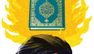 Illustration: Koran by Alexander Hunter for The Washington Times