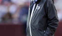 Penn State head coach Joe Paterno looks on from the sidelines during the second half of an NCAA college football game against Indiana, Saturday, Nov. 20, 2010, in Landover, Md. Penn State won 41-24. (AP Photo/Nick Wass)