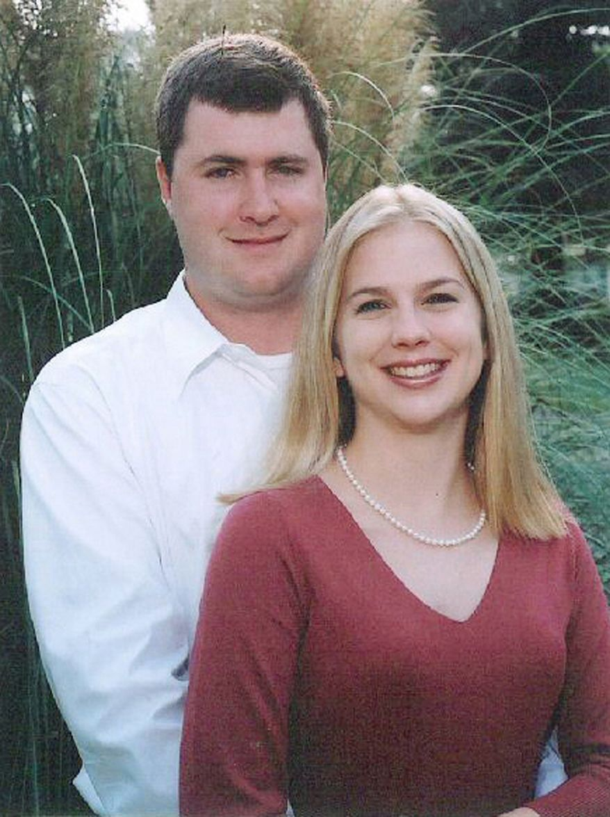 In this undated file photo released by Townsville Coroners Court on June 20, 2008, Gabe Watson, left, and his wife, Tina, pose on their engagement. Watson, convicted of manslaughter in his wife's honeymoon death, was deported Thursday, Nov. 25, 2010, from Australia to the United States, where he is likely to face murder charges for the 2003 drowning. (AP Photo/Townsville Coroners Court, File)
