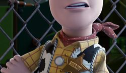 ACCEPTANCE SPEECH: Woody, voiced by Tom Hanks, might have to ditch the chaps for a tuxedo. (Disney/Pixar)