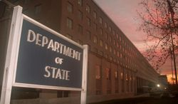 The State Department headquarters is located in the Foggy Bottom neighborhood of Washington. (Associated Press) ** FILE **