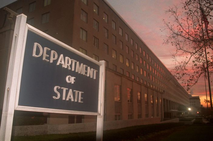 The State Department headquarters is located in the Foggy Bottom neighborhood of Washington. (Associated Press)