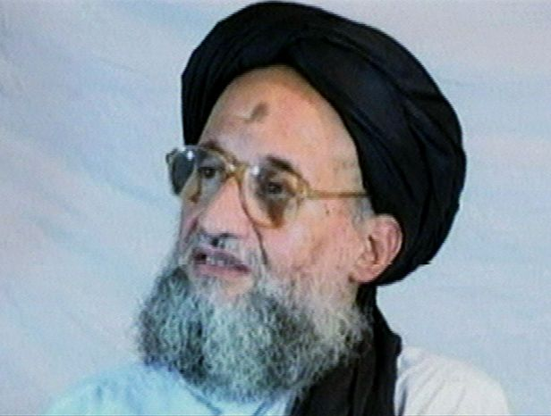 **FILE** This photo of al Qaeda top deputy Ayman al-Zawahri was taken from videotape and posted on the Internet in 2005. (Associated Press)