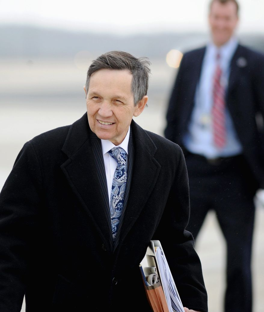ASSOCIATED PRESS Rep. Dennis J. Kucinich has challenged Rep. Edolphus Towns for the Democratic Party's top position on the House Oversight and Government Reform Committee. Mr. Towns currently serves as chairman.