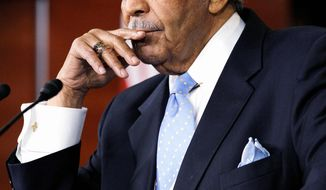 ASSOCIATED PRESS CHASTENED: Rep. Charles B. Rangel, New York Democrat, speaks to the media after being censured by the House for 11 ethics violations, mostly related to his efforts to raise funds for the Charles B. Rangel Center for Public Policy.