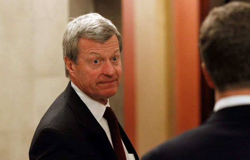 ASSOCIATED PRESS Sen. Max Baucus, Montana Democrat, joined one House Democrat and three House Republicans to oppose the report by President Obama's deficit commission.