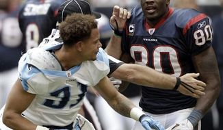 Tennessee Titans coach Jeff Fisher yells at officials in the fourth quarter of an NFL football game against the Houston Texans on Sunday, Nov. 28, 2010, in Houston. The Texans beat the Titans 20-0. (AP Photo/David J. Phillip)