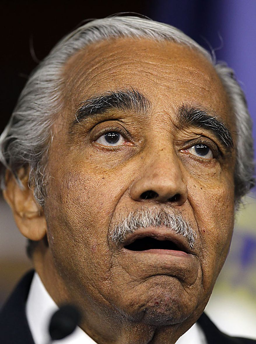 Rep. Charles Rangel, D-N.Y., speaks to the media after he was censured by the House, on Capitol Hill in Washington Thursday, Dec. 2, 2010.(AP Photo/Alex Brandon)