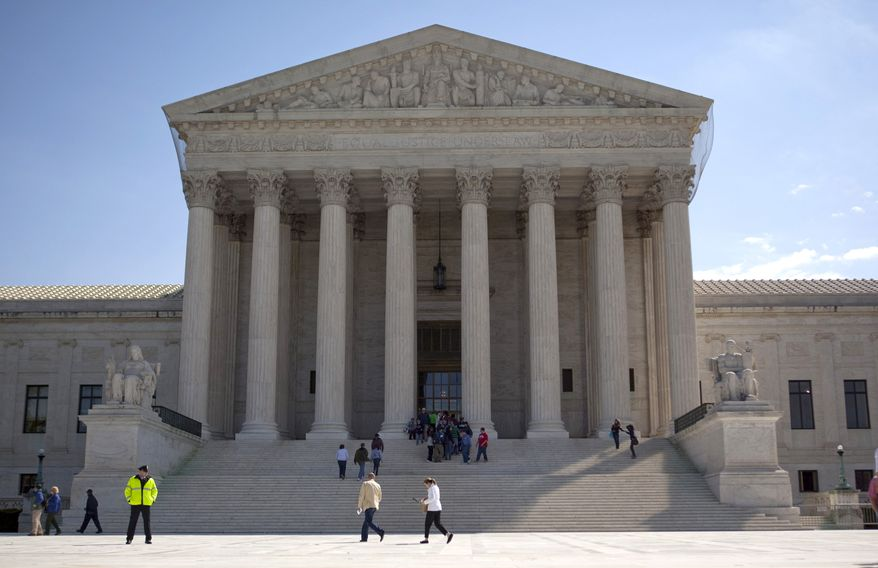 The U.S. Supreme Court building on Capitol Hill in Washington (AP Photo/Evan Vucci, File)