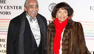 Rep. Charles B. Rangel and his wife, Alma, walk the red carpet at the Kennedy Center Honors in Washington on Sunday, Dec. 5, 2010. (AP Photo/Jacquelyn Martin)