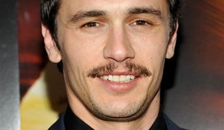"FILE - In this Nov. 2, 2010 file photo, actor James Franco attends the ""127 Hours"" film premiere at Chelsea Clearview Cinema in New York. (AP Photo/Evan Agostini, file)"