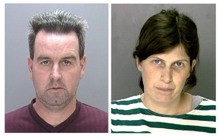 This undated photo combination provided by the Philadelphia Police Department shows Herbert and Catherine Schaible, who are charged with involuntary manslaughter.  The couple's trial began Tuesday, Dec. 7, 2010, in Philadelphia. The Schaibles prayed for their sick toddler rather than take him to a doctor before his pneumonia death in January 2009. (AP Photo/Philadelphia Police Department)