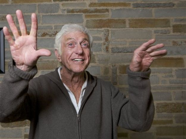 In this photo taken on Tuesday, Nov. 30, 2010, actor Dick Van Dyke rehearses for his upcoming one-man show at the Gefen Playhouse in Los Angeles. (AP Photo/Damian Dovarganes)