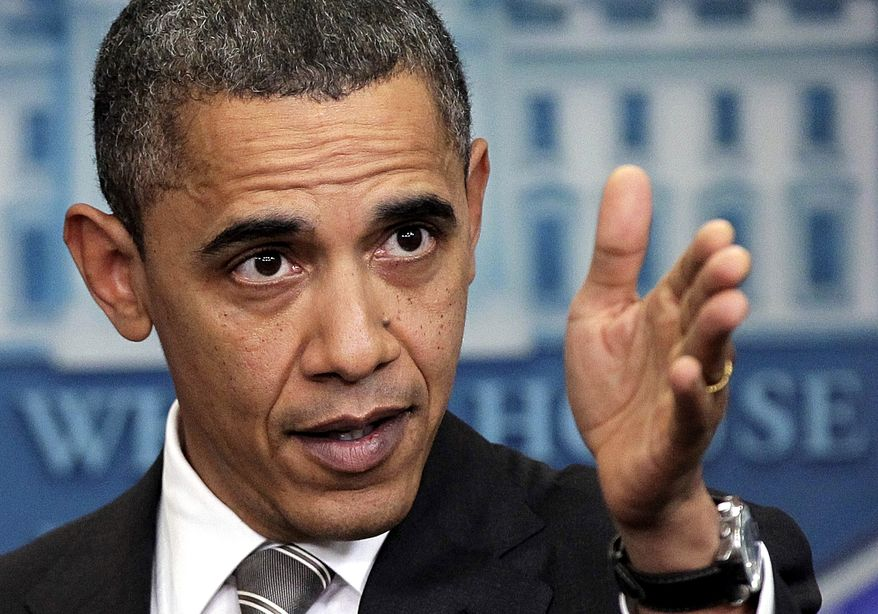 **FILE** President Obama speaks at a news conference in Washington. (Associated Press)