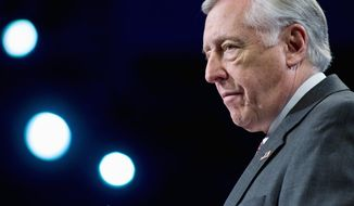 """What a republic needs is leaders who are willing to look further, even if it costs them,"" House Majority Leader Steny H. Hoyer, Maryland Democrat, said yesterday about taking politically risky stands. (Associated Press)"