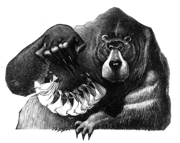 Illustration: Russian bear by Alexander Hunter for The Washington Times