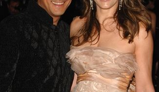 FILE - In this May 4, 2009 file photo, actress Elizabeth Hurley and Arun Nayar arrive at the Metropolitan Museum of Art's Costume Institute Gala in New York. (AP Photo/Peter Kramer, file)
