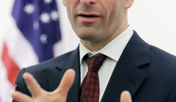 "LIBERALS' FOE: ""I'm on dartboards all over the country,"" Virginia Attorney General Kenneth T. Cuccinelli II says. (Associated Press)"