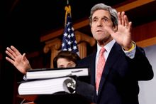 Sen. John Kerry, Massachusetts Democrat, said Wednesday that he would try to block any amendments to the New START treaty because he thinks they would derail the agreement.