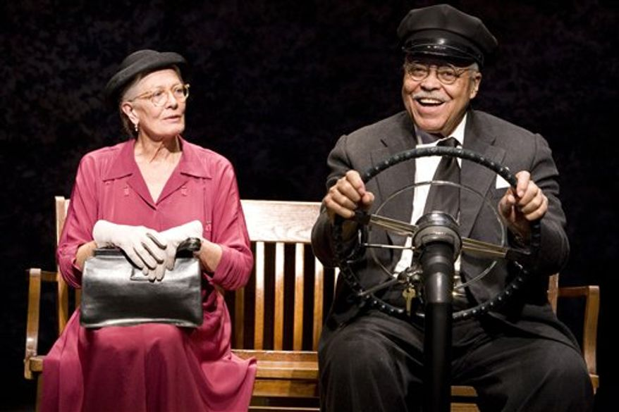 """Vanessa Redgrave and James Earl Jones in the Broadway premiere of Alfred Uhry's Pulitzer Prize winning """"Driving Miss Daisy"""", now in performances at The Golden Theater (252 W. 45th Street).  (AP Photo/The O and M Co., Annabel Clark)"""