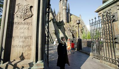 ASSOCIATED PRESS PHOTOGRAPHS Florida theme parks are seeing a slight resurgence thanks in part to the new, wildly successful Wizarding World of Harry Potter attraction at Universal Orlando, which includes Hogwarts School of Witchcraft and Wizardry.