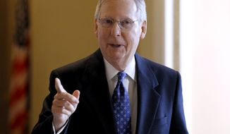 Senate Minority Leader Mitch McConnell, Kentucky Republican (AP Photo/Alex Brandon)