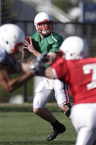 Wisconsin quarterback Scott Tolzien throws a pass during NCAA college football practice in Carson, Calif., Monday, Dec. 27, 2010. Wisconsin will face TCU in the Rose Bowl on New Year's Day in Pasadena, Calif. (AP Photo/Jae C. Hong)
