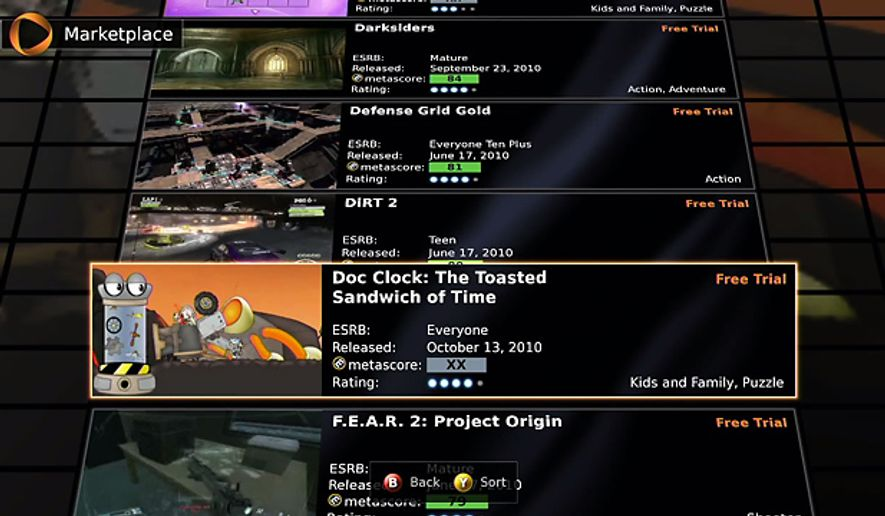 OnLive's Marketplace offers over 30 games to play.